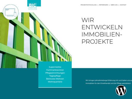 Webseite BIC Immobilienberatung