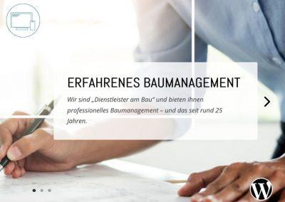 Baumanagement Webseite