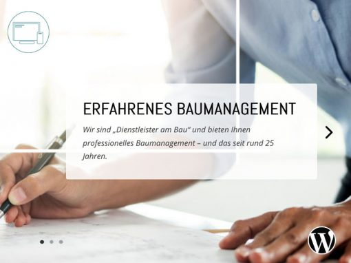 Baumanagement Webseite